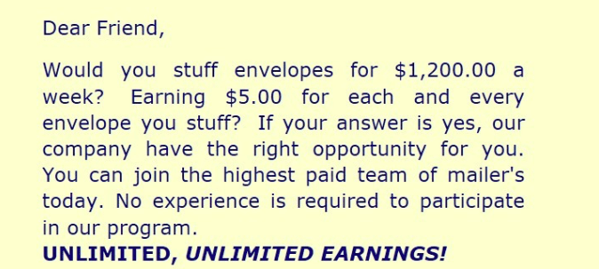 Make Money By Stuffing Envelopes At Home
