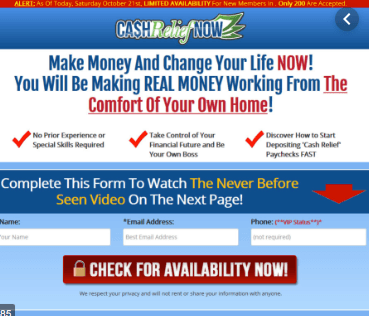 Is Cash Relief Now A Scam? Look Out!