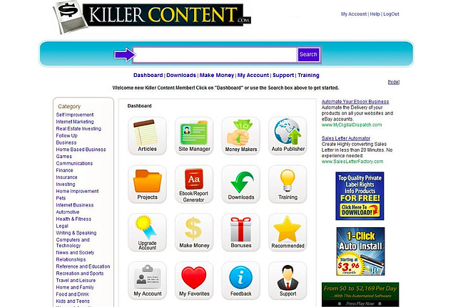 What is Killer Content System About?