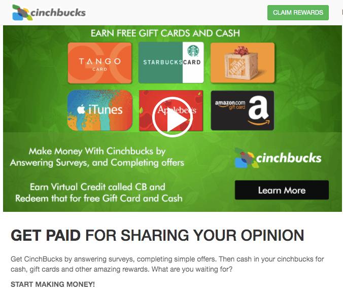 What Is Cinchbucks.com?
