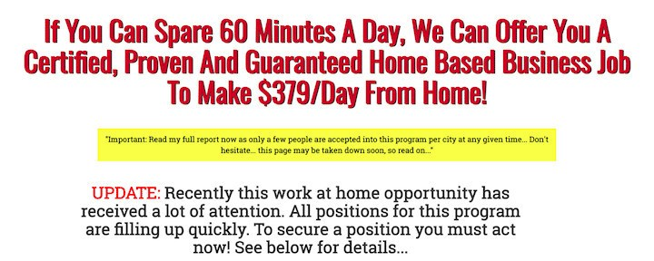 Internet Link Posting Jobs -The Scam That Keeps Working